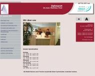 Bild Webseite Post Matthias Dr. Zahnarzt München