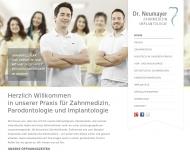 Website Zahnarztpraxis Dr. Florian Neumayer