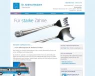 Bild Webseite Zahnarztpraxis Neubert Andrea Dr.med.dent. Freital