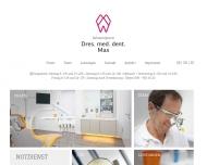 Bild Webseite Max Jürgen Dr. Zahnarzt Unterföhring