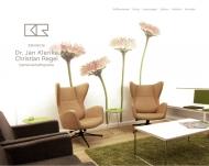 Bild Webseite Klenke Hamburg