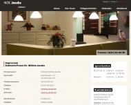 Website Jacobs Willem H. Zahnarzt