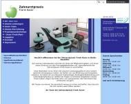 Bild Webseite Kaser Frank Zahnarztpraxis Zahnarzt und Zahntechniker Berlin
