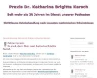 Bild Webseite Karsch Katharina Brigitta Dr.med.dent. Zahnarztpraxis München