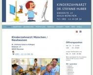 Website Huber Stefanie Dr. zahnärztliche Behandlung bei Kindern
