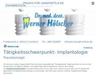 Bild Webseite Hölscher Werner Dr. Zahnarzt Frankfurt