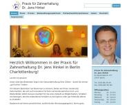 Bild Webseite Hinkel Jens Dr. Zahnarztpraxis Berlin