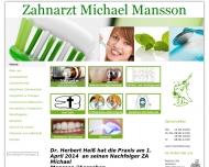 Website Zahnarzt Michael Mansson