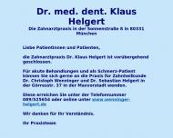 Bild Webseite Helgert Klaus Dr.med.dent. Zahnärzte für Kieferorthopädie München