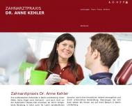 Bild Webseite Zahnarztpraxis Dr. Anne Kehler Berlin