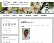 Website Dr. Christian Grüner