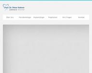 Website Zahnarztpraxis Prof. Dr. Peter Hahner