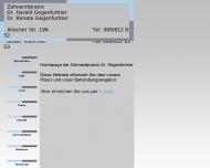 Bild Webseite Gegenfurtner Harald Dr. u. Renate Dr. Zahnärzte München