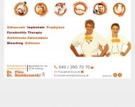 Bild Webseite Zahnarztpraxis Dr. Flüs Hamburg