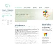 Bild Webseite Freundel Rainer Zahnarzt Berlin
