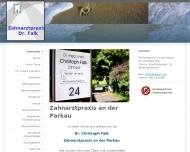 Bild Webseite Falk Christoph Dr.med.dent. Mannheim