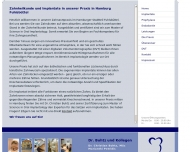 Bild Webseite Buhtz Christian Dr. Zahnarzt Hamburg
