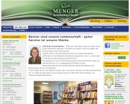 Website Buchhandlung Menger