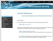 Bild Webseite Zahnarztpraxis Berning Berlin