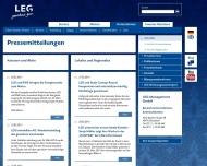 Website LEG Landesentwicklungsgesellschaft NRW
