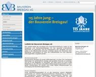 Website Bauverein Breisgau eG