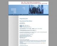 Website Rötzer Peter Dipl.-Kfm. Wirtschaftsprüfer und Steuerberater