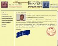 Bild Webseite Richter Klaus Wirtschaftsprüfer und Steuerberater München