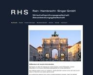 Bild Webseite Rein Hambrecht Singer München