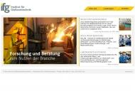 Bild Webseite Bundesverband der Deutschen Gießereiindustrie (BDG) e. V. Düsseldorf