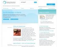 Bild Webseite Kassenzahnärztliche Vereinigung Nordrhein Zahnärztlicher Notdienst Düsseldorf
