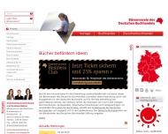 Bild Webseite MVB Marketing- und Verlagsservice des Buchhandels Frankfurt
