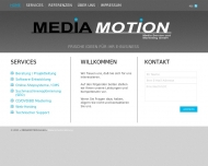 Bild Webseite MEDIAMOTION Media Service und Marketing Hamburg