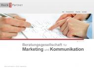 Bild Webseite HOCK UND PARTNER Beratungsgesellschaft für Marketing und Kommunikation Hamburg
