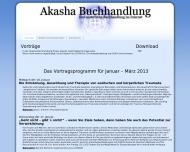 """Website """"Akasha"""" Buchhandlung und Versand Wieslawa Braune"""