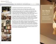 Website Autorenbuchhandlung ABC Gesellschaft