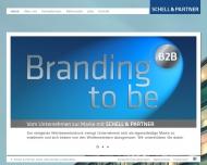 Bild Webseite Schell & Partner, Kommunikation München