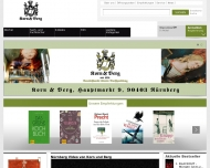 Bild Webseite Korn und Berg Universitätsbuchhandlung Nürnberg