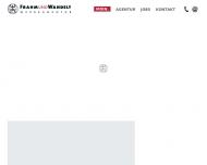 Bild Webseite Frahm + Wandelt Werbeagentur Hamburg