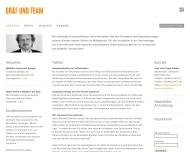 Bild Webseite Gräf & Team München