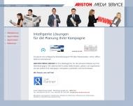 Bild Webseite ARISTON Media Service Köln