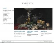 Website Kunsthaus Lempertz gegründet 1845,