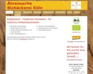 Bild Webseite Vollkornbäckerei Ährensache Köln