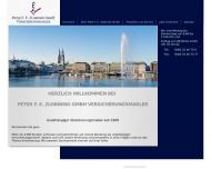 Bild Webseite Peter F. E. Zlobinski Hamburg