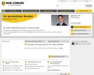 Website HUK-COBURG Kundendienstbüro Alexander Frank