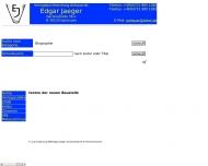 Bild Webseite Jaeger Edgar Karlsruhe