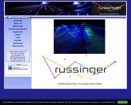 Bild Webseite Russinger Michael Lichtanlagenverleih Burgkirchen an der Alz