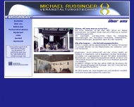 Website Russinger Michael Lichtanlagenverleih