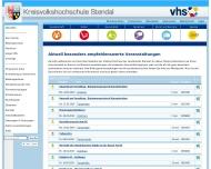 Bild Webseite Kreisvolkshochschule Tangerhütte