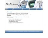 Website ELCUM Büromaschinen Groß- und Einzelhandelsges.