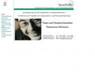 Bild Webseite Tera Train Nürnberg